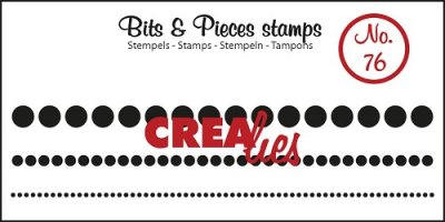 Crealies Clearstamp Bits&Pieces no. 76 Dots in a row, 3 sizes