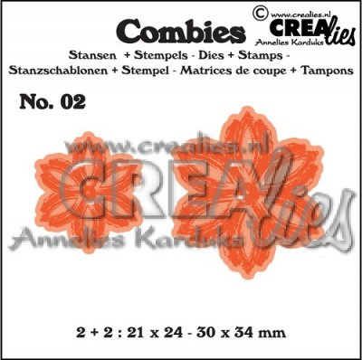 Crealies Combies no.2 flowers B