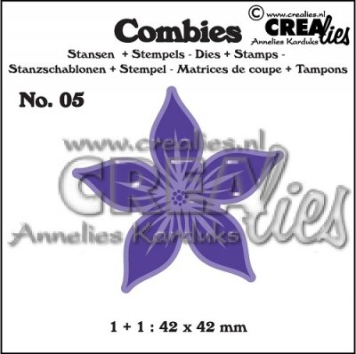 Crealies Combies no. 5 Flower A large