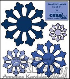 Crealies Creative Flowers no. 01 (set of 4 flowers)