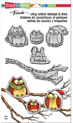 Stampendous Cling Stamp & Die Set - Owl Be Home