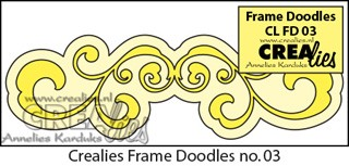 Crealies Frame Doodles no. 3 Die Ornament Straight