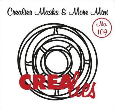 Crealies Masks & More Mini no. 109 Intertwined circles