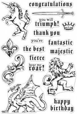 "Hero Arts Clear Stamps 4""X6""Majestic Beasts"