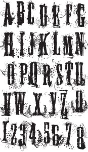 Tim Holz Stampers Anonymous - Grunge Alphabet