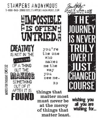 Tim Holtz Stampers Anonymous - Words For Thought