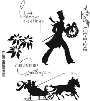 Tim Holtz Stampers Anonymous - Deco Christmas