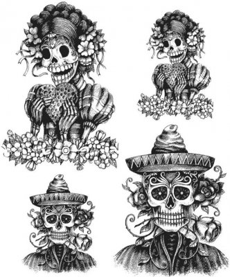 Tim Holtz Stampers Anonymous - Day Of The Dead #1