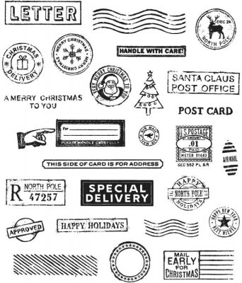 Tim Holz Stampers Anonymous - Holiday Postmarks