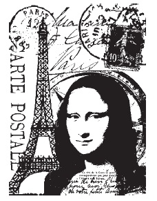 Tim Holtz Stampers Anonymous - Paris Cling Mounted Stamp