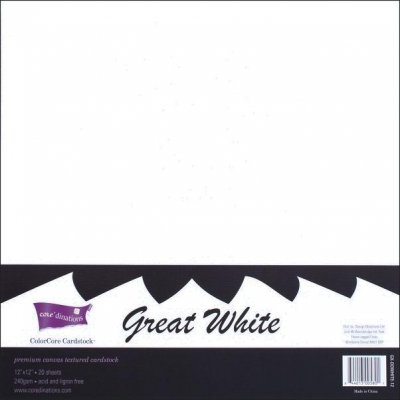 Coredinations Bulk Pack - 20 Sheets Of Premium White Card (12