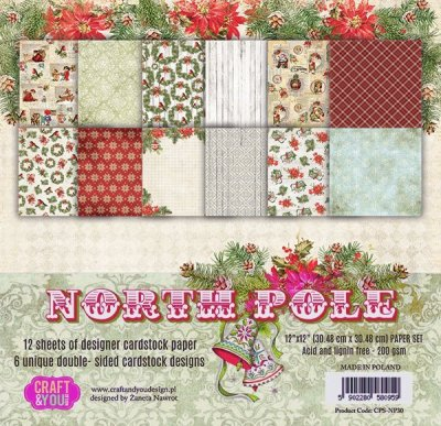 "Craft&You 12""x12"" Paper Pack - North Pole (12 sheets)"