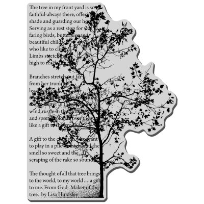 Stampendous Cling Stamp - Tree Poem