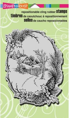 Stampendous Cling Stamp - Christmas Cottage