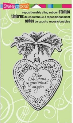 Stampendous Cling Stamp - Christmas Heart