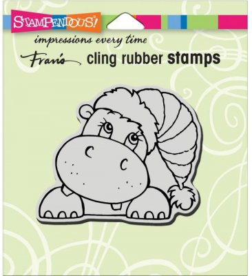 Stampendous Cling Stamp - Hippo Holiday