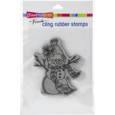 Stampendous Cling Stamps - Snowman Scarf