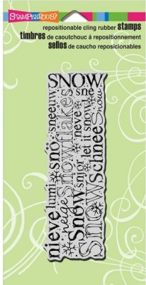 Stampendous Cling Stamp - International Snow