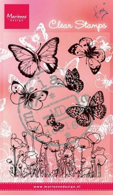 Marianne Design Clearstamps - Butterflies and Poppies