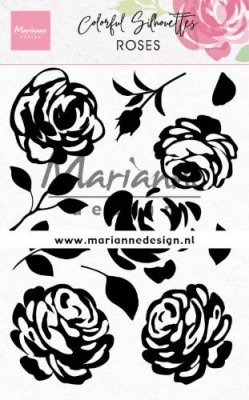 Marianne Design Clear Stamps - Colorful Silhouette Roses