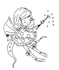 Clearstamp clear stamp girl fairy
