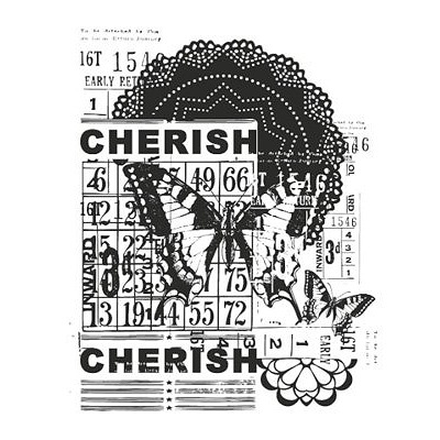 Kaisercraft Vintage Collection Clear Stamp - Cherish