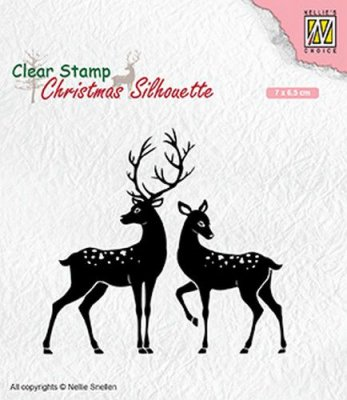 Nellies Choice Clear Stamps - Christmas Silhouette Deer