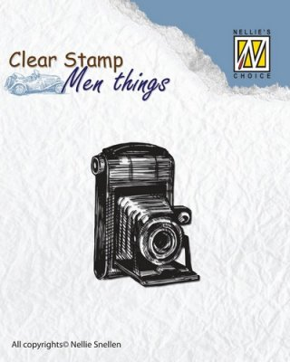 Nellies Choice Clearstamp - Men Things Camera