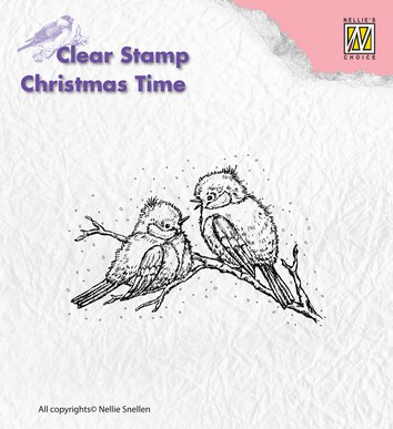 Nellies Choice Clearstamp - Christmas Time Birds