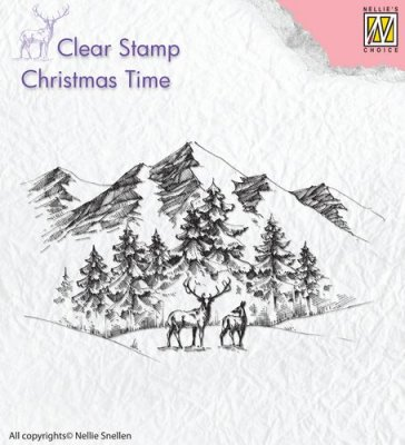 Nellies Choice Clearstamp - Christmas Time Winter Landscape