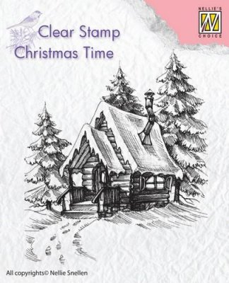 Nellies Choice Clear Stamp - Christmas Time Snowy House #2