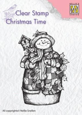 Nellies Choice Clear Stamp - Christmas Time Snowman&Birdhouse