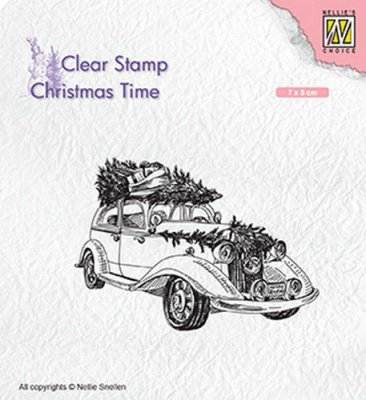 Nellies Choice Clear Stamps - Christmas Time Christmas tree Transport