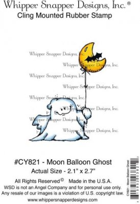 Whipper Snapper Cling Stamp - Moon Balloon Ghost