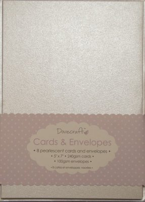 "Dovecraft Pearlescent 5""x7"" Cards Envelopes"