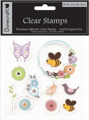 Dovecraft Clear Stamp Set - Birds & Bees