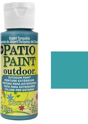 DecoArt Outdoor Patio Paint - Desert Turquoise