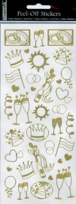 Dovecraft Peel Off Outline Sticker Gold Party