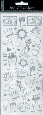 Dovecraft Peel Off Outline Sticker Silver Party