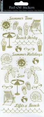 Dovecraft Peel Off Outline Sticker Gold Summer