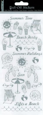 Dovecraft Peel Off Outline Sticker Silver Summer