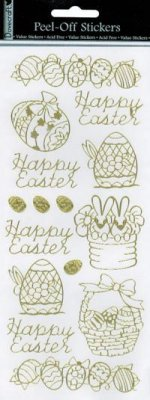 Dovecraft Peel Off Outline Sticker Gold Easter