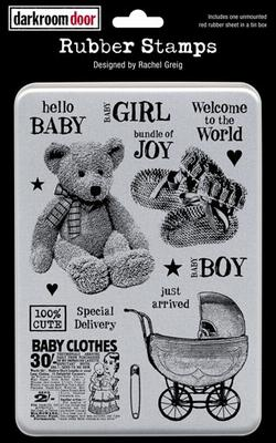 Door Unmounted Rubber Stamp Set - Hello Baby Vol 1