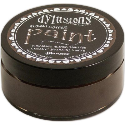 Dylusions Blendable Acrylic Paint - Ground Coffee (59 ml)