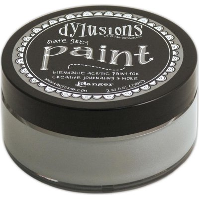 Dylusions Blendable Acrylic Paint - Slate Grey (59 ml)