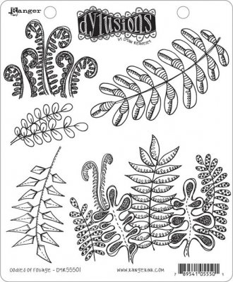 Dyan Reaveley´s Dylusions Cling Stamp Collection - Oodles Of Foliage