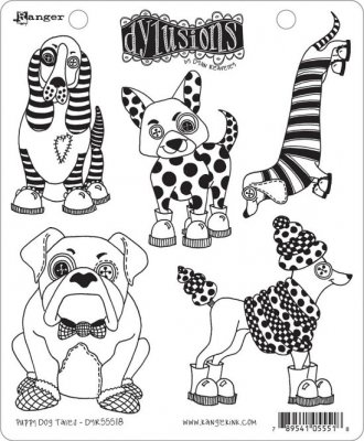 Dyan Reaveley´s Dylusions Cling Stamp Collection - Puppy Dog Tales