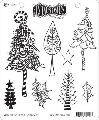 Dylusions Stampers Anonymous - Wood For The Trees
