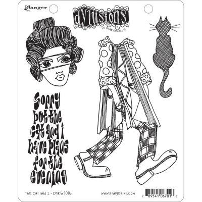 Dyan Reaveleys Dylusions Cling Stamp Collections - The Cat & I