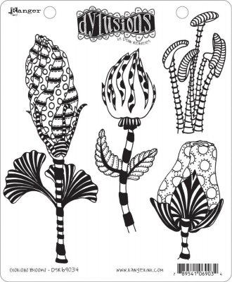 Dyan Reaveley's Dylusions Cling Stamp Collections - Glorious Blooms